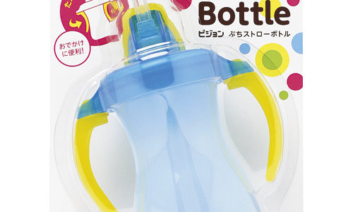 Pigeon Petite Straw Bottle, el vaso entrenador con popote(ピジョン ぷちストローボトル)
